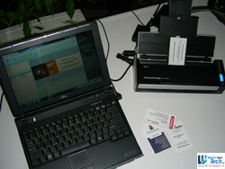Scanning business cards with the ScanSnap from Fujitsu