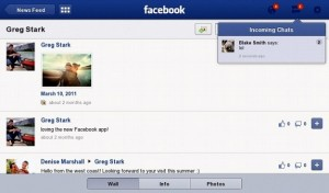 Facebook for BlackBerry PlayBook