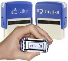 Facebook inkpad stamps at http://www.amazon.com/Jailbreak-Collective-Like-Dislike-Stamps/dp/B004LUY9TS/?tag=oddee-20