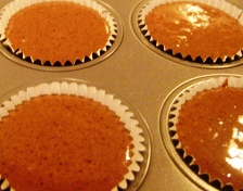 cupcakes in the pan