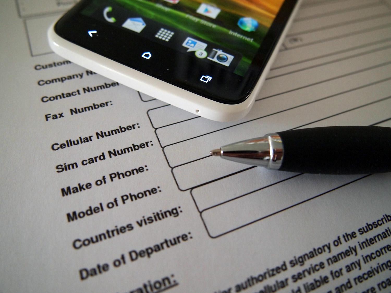 Phone contract