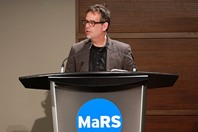 Citizen Lab Leader and University of Toronto Professor Ron Diebert addresses the audience at an International Privacy Day symposium. (Photo by Jon Horvatin)
