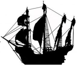 Artist rendition of a typical 1600's Atlantic shipping vessel.