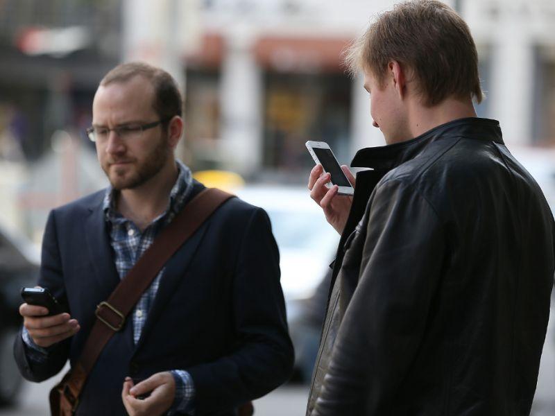 people talking phone