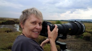 Dr Roberta Bondar with camera