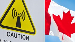 wifi warning logo, Canadian flag