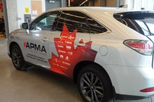 The connected car was developed and demonstrated as part of a multi industry partnership with private and public sector support.