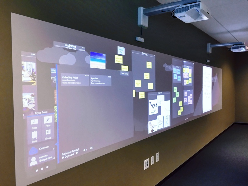 The Span system lets participants use their own  computer or tablet to create and share ideas in a large, projected workspace.
