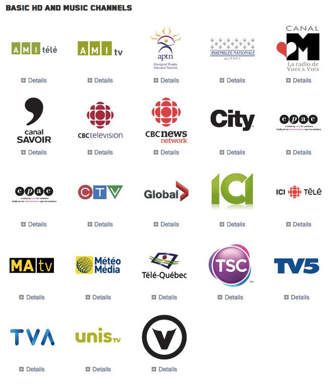 Videotron-channels