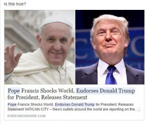 Holy Fake News! Pope Tackles Distorted Facts on Social Media