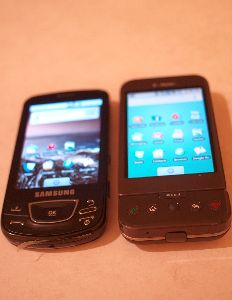 The Galaxy beats the T-Mobile G1/HTC Dream in terms of speed, screen clarity and size.