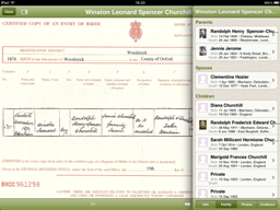winston churchill family information on screen