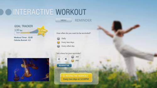 interactive workout screen grab