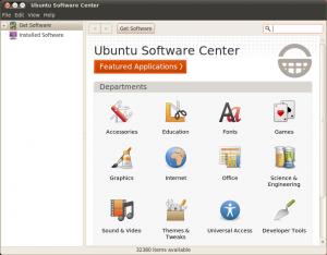 Ubuntu software centre