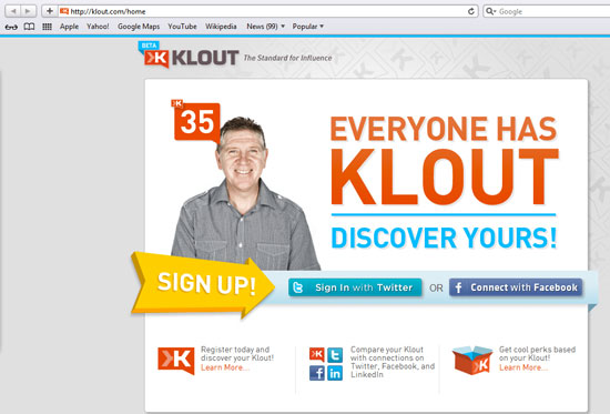 Klout is a free measure of influence that uses a pretty sophisticated algorithm to define an individual social media influence score.
