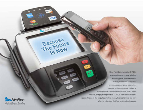 Near Field Communications allows smartphones to communicate with other devices, including payment terminals.