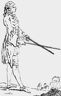 blind dowser illustration