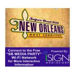 Like thousands of others, iSIGN Media made the trip to New Orleans this week; iSIGN's technology is being used to beam messages to fans - and their smartphones -  on the way to Super Bowl.