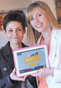 Jennifer Weidemann (at left) and Mary Roka are the founders at GoTo Educational Technology, a new company that's recently released the first Birdees app.