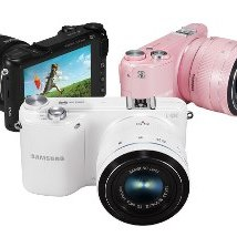 Samsung's NX2000:  available in three colours.