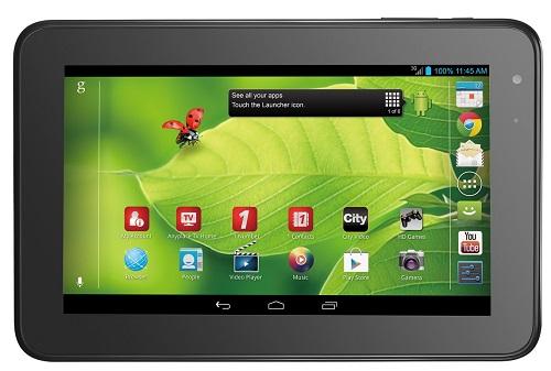 ZTE V72A tablet - front