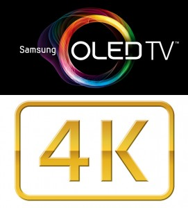 OLED and 4K logos