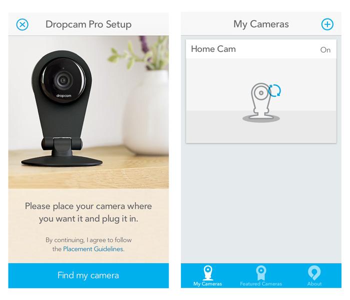 Dropcam app