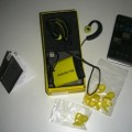 The kit includes earbuds, adaptable eargels, mini USB cable, carrying case and instructions; Z30 not included.