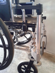 A prototype of the Single Hand Drive Wheelchair