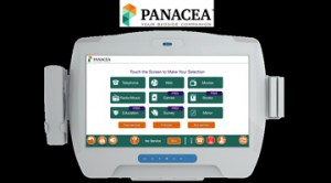 The Panacea touchscreen device brings bedside content and information to hospital patients and health care providers.