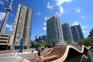 waterfront scene in Toronto