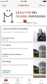 Montreal Museums mobile app