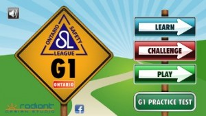 driver training app screen