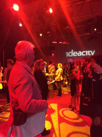 Thought-provoking ideas come almost non-stop throughout the three-day event (and reports about ideacity can be rather lengthy, too), but each night, ideacity becomes Party City, as attendees are bussed to popular night sports for exciting evening events. Photo @ideacity.