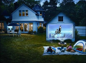 projectors outdoors