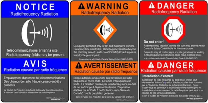 Some warning signs and labels generated by Caada's Health