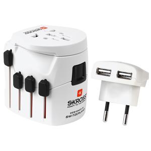 Skross World Travel Adapter Pro+ USB