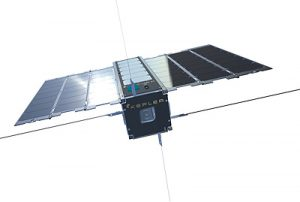Small nanosatellite pictured.