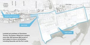 map of high-tech nieghbourhood in Toronto