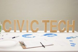 letters spell out civic tech