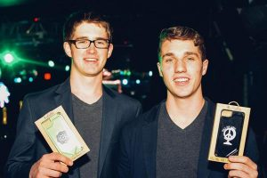 two young male cannabis company executives