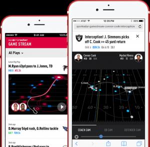 smartphones with Sportradar app