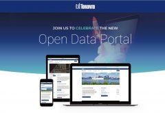 open data toronto portal shown on screens