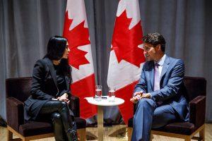 BroadbandTV Founder and CEO Shahrzad Rafati and Prime Minister Justin Trudeau