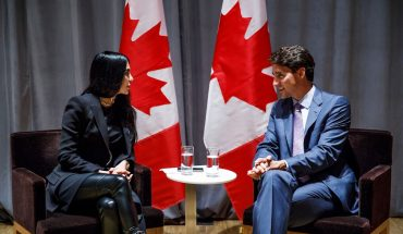 BroadbandTV Founder and CEO Shahrzad Rafati and Prime Minister Justin Trudeau
