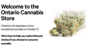ontario's cannabis webpage