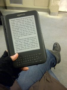 someone reading an ebook