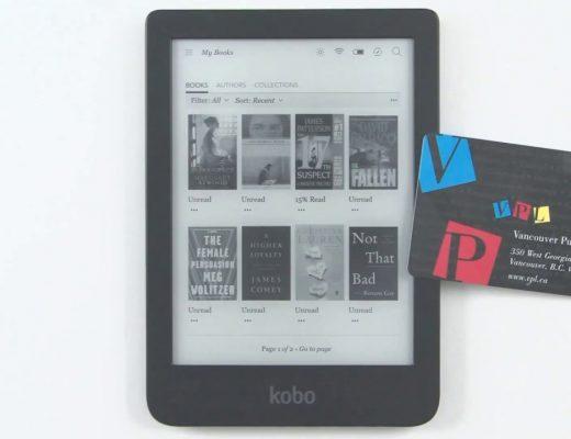 ebook reader pictured