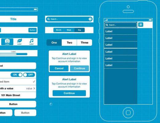 smartphone interface broken down into discrete elements