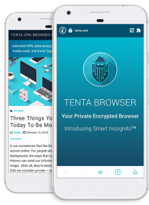 tenat mobile browser on screen